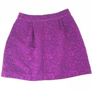 Anthropologie HD in Paris Purple Pleated Skirt